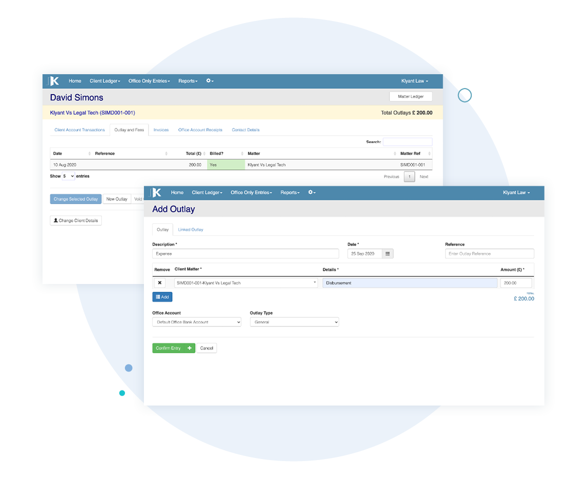 Record disbursements as bank transactions without the need to record them on the purchase ledger