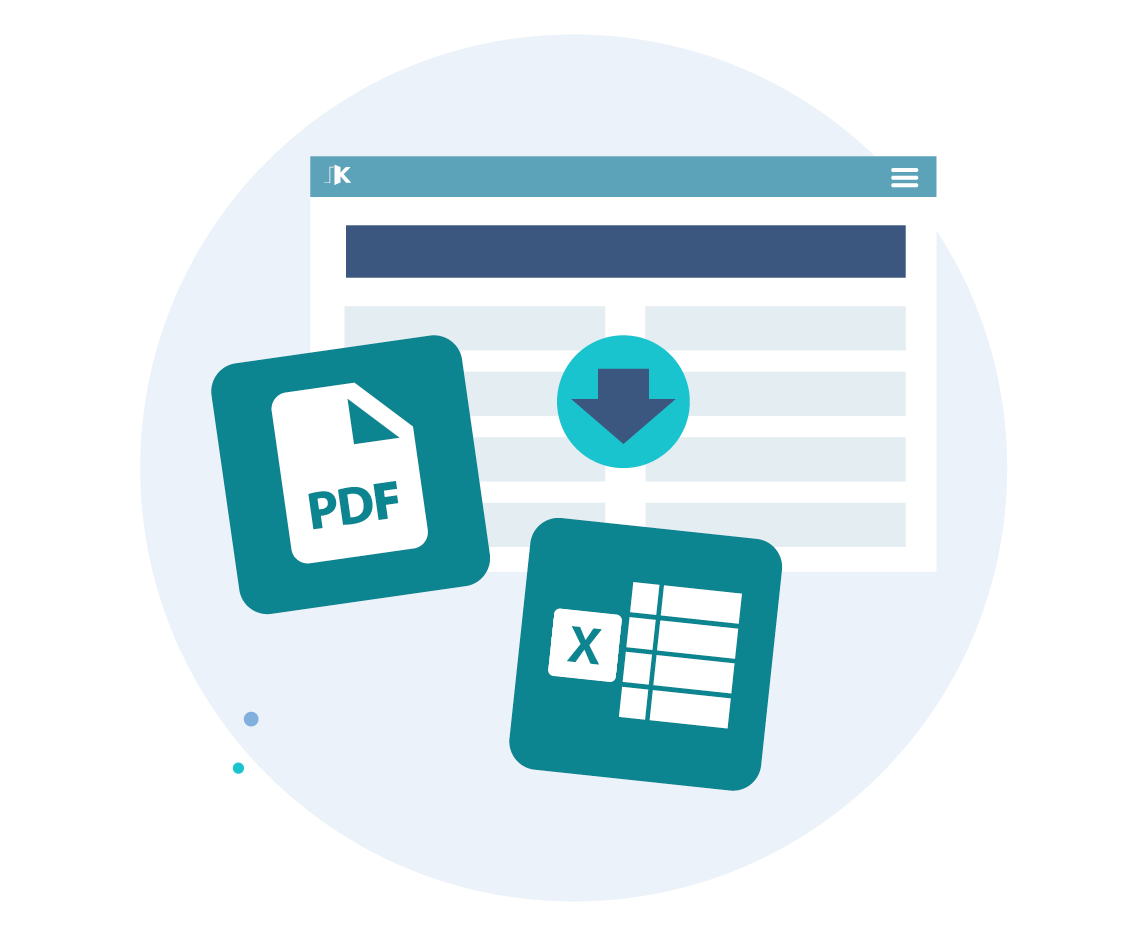 Export reports to PDF and Excel